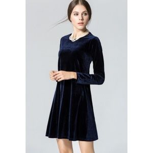 Old Navy Long Sleeve Velvet Dress